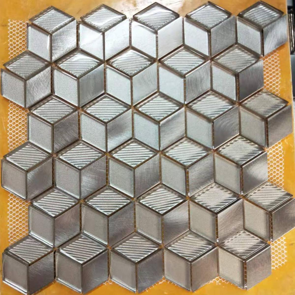 18 X 18 Geo Chrome Beige Interior/Exterior Wall Tile